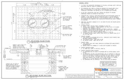 TZ-1826 Traffic Rated Installation Drawing